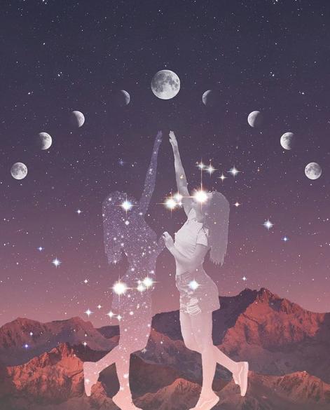 Luna llena de  abril–Una nueva forma de vincularnos