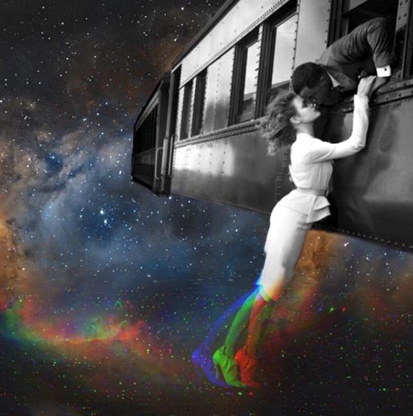 Cuando los amantes cósmicos se besan, hay placer en la tierra